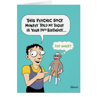 14o Cartão engraçado do aniversário