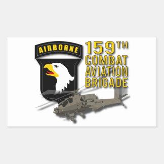 159th Bde Apache da aviação de combate Adesivo Retangular