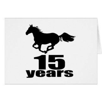 15 anos de design do aniversário cartão