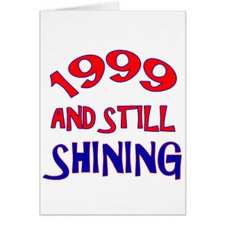 15 anos de design velho do aniversário cartão