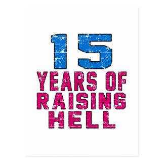 15 anos de inferno de levantamento cartoes postais