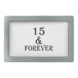 15 e para sempre design do aniversário