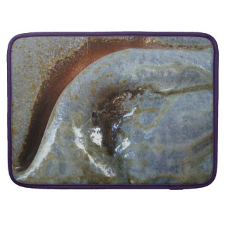 """15"""" MacBoookPro - dobra abstrata da argila com Bolsa Para MacBook"""