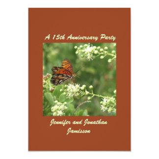 15o Borboleta do convite da festa de aniversário