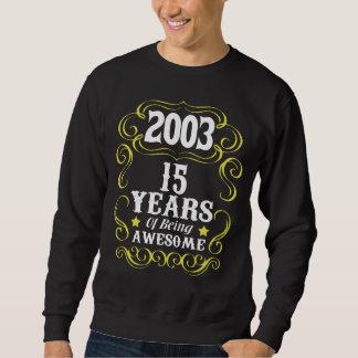 15o Camisa do aniversário para meninas/meninos