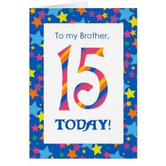 15o Cartão de aniversário para o irmão, as listras