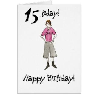 15o Cartão de aniversário para um menino