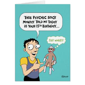 15o Cartão engraçado do aniversário