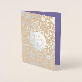 15o Cartões do aniversário de casamento