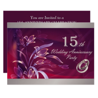 15o Convites da festa de aniversário do casamento