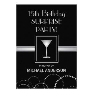 15o Convites de festas masculinos do aniversário
