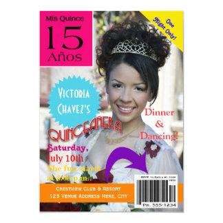 15o da foto | da capa de revista | de Quinceanera Convite 12.7 X 17.78cm