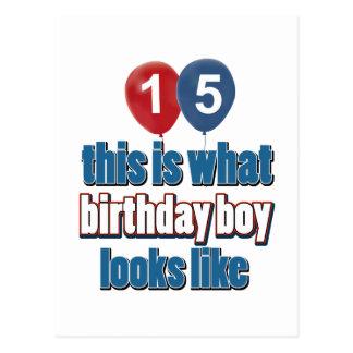 15o design do aniversário do ano cartão postal