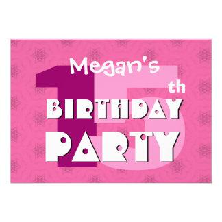 15o Festa de aniversário 15 anos de estrelas cor-d Convites Personalizado