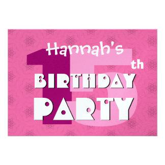 15o Festa de aniversário 15 anos de estrelas cor-d Convite Personalizado