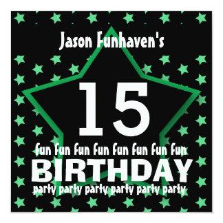 15o Festa de aniversário ou alguma ESTRELA V15B do Convite