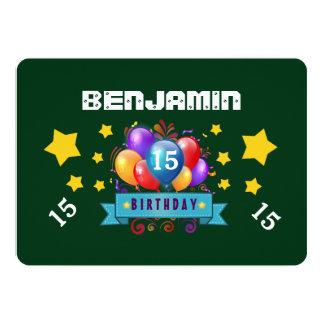 15o VERDE festivo das estrelas B115 dos balões do Convite