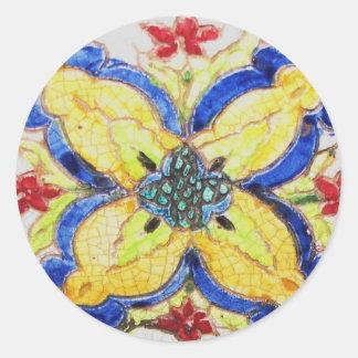 1600s florais árabes do azulejo do motivo do teste adesivo