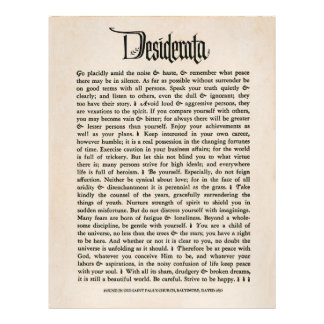 1692 Desiderata - papel do olhar do pergaminho, 25 Modelo De Panfleto