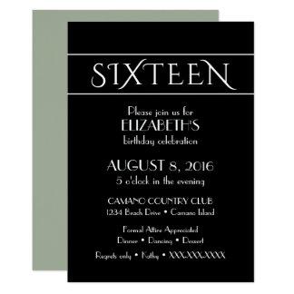 16' convite do aniversário do th
