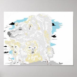 """16"""" X12"""", urso polar (Matte) de papel de poster do"""