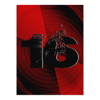 16a festa de aniversário adolescente legal convite 16.51 x 22.22cm