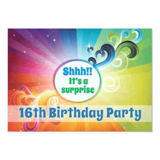16o Bênçãos religiosas do arco-íris do cartão do Convite 12.7 X 17.78cm
