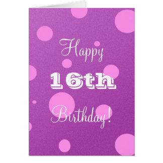 16o cartão de aniversário feliz para a menina