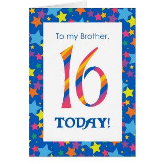 16o Cartão de aniversário para o irmão, as listras