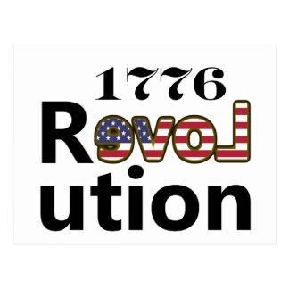 """1776 do """"revoluções dos EUA amor"""" Cartão Postal"""
