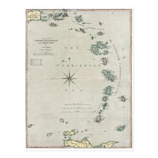 1789 ilhas das Caraíbas Cartão Postal