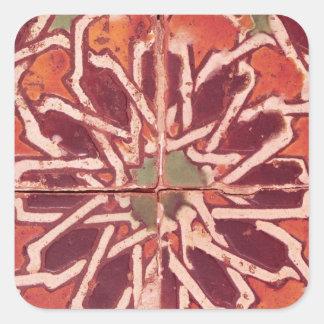 17: Azulejo de Isnik, século XVI Adesivo Quadrado
