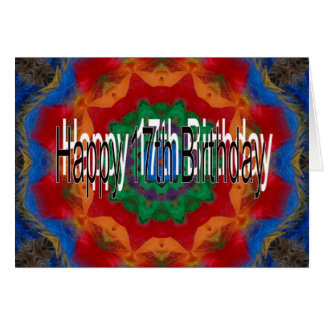 17o Cartão de aniversário