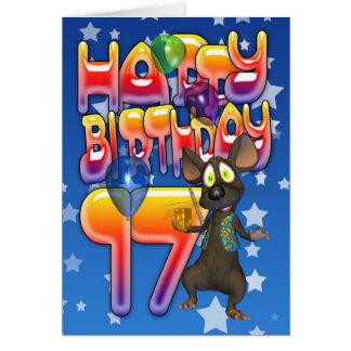 17o Cartão de aniversário, feliz aniversario