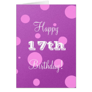 17o cartão de aniversário feliz para a menina