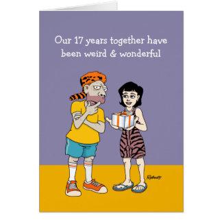 17o cartão estranho e maravilhoso do aniversário
