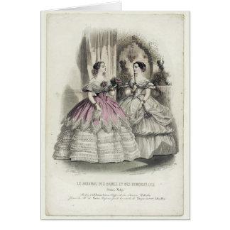 1856 ilustração - cartão da arte (com mensagem)