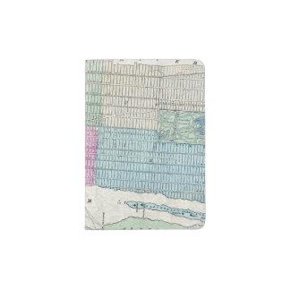 1870 Central Park da Nova Iorque do mapa Capa Para Passaporte