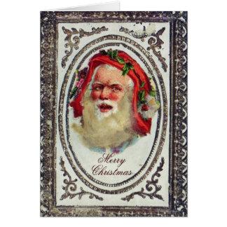 1878: Um cartão de cartões de natal do Victorian