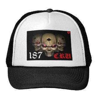 187 chapéus brancos do cru & pretos feitos sob enc boné