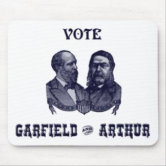 1880 voto Garfield e Arthur, azuis Mouse Pad