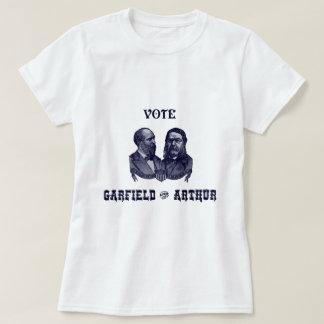 1880 voto Garfield e Arthur, azuis T-shirt