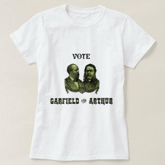 1880 voto Garfield e Arthur, verdes T-shirts