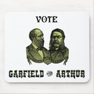 1880 voto Garfield e Arthur verdes Mousepads
