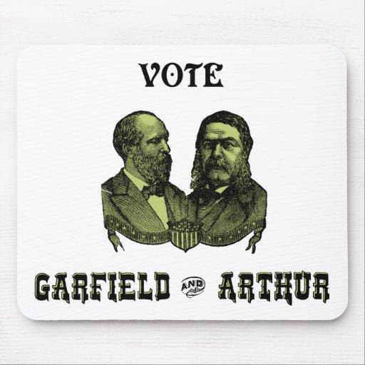 1880 voto Garfield e Arthur, verdes Mousepads