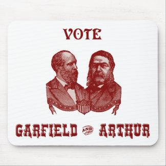 1880 voto Garfield e Arthur, vermelhos Mouse Pad
