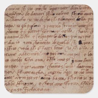 1895-9-15-503 página de W.34v da escrita Adesivo Quadrado
