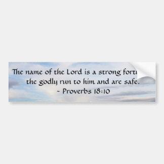 18:10 dos provérbio - o senhor é uma fortaleza for adesivo para carro