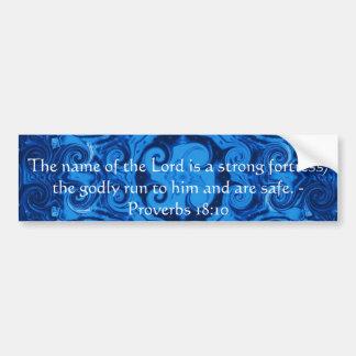 18:10 inspirado dos provérbio do verso da bíblia adesivo para carro