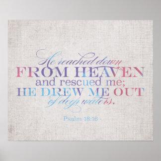 18 16 do salmo - escritura da bíblia posters